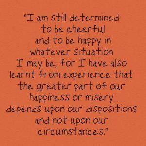 I am still determined