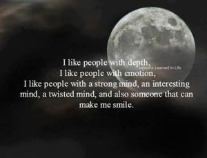 I like people