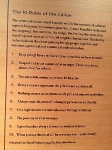 10 rules canoe