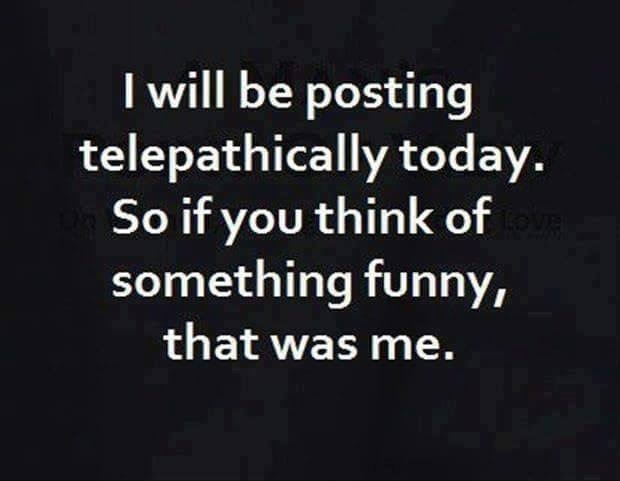 telepathically